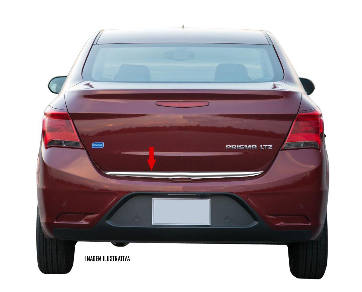 Friso Cromado Resinado Traseiro Porta Malas Chevrolet Novo Prisma 2013 2014 2015 2016 2017