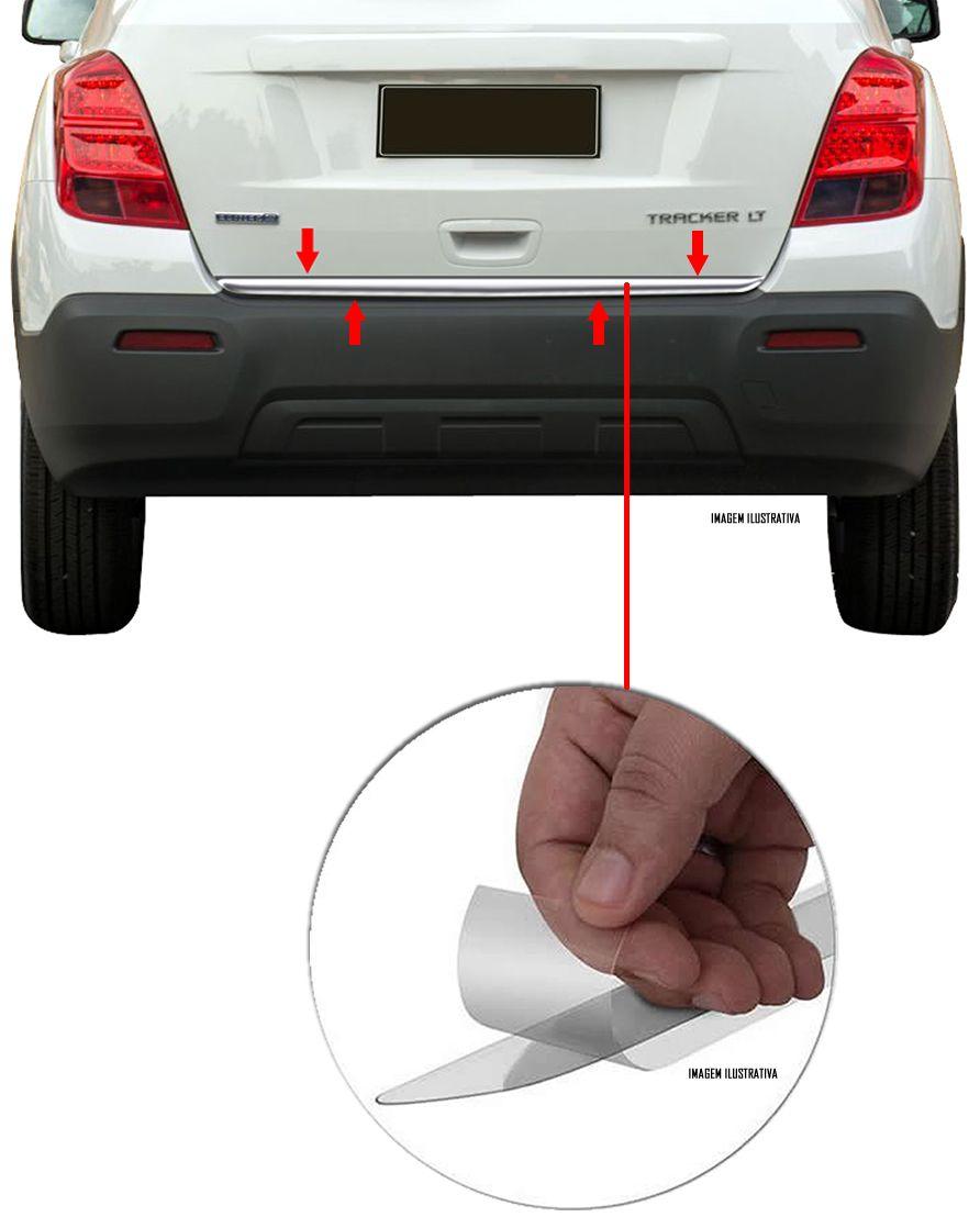 Friso Cromado Resinado Traseiro Porta Malas Chevrolet Tracker 2014 2015 2016 2017 2018