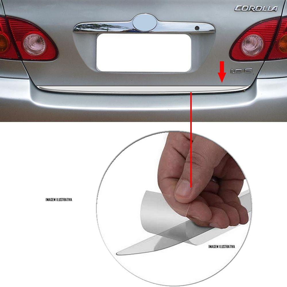 Friso Cromado Resinado Traseiro Porta Malas Corolla 2002 a 2007