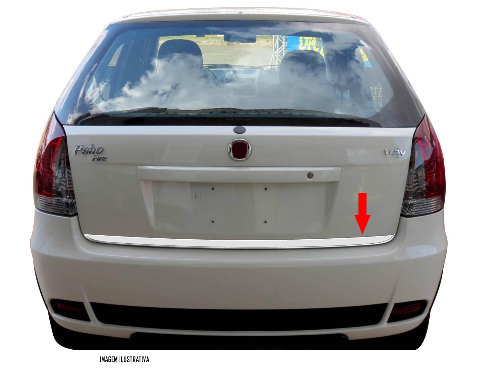 Friso Cromado Resinado Traseiro Porta Malas Fiat Palio 2004 2005 2006 2007