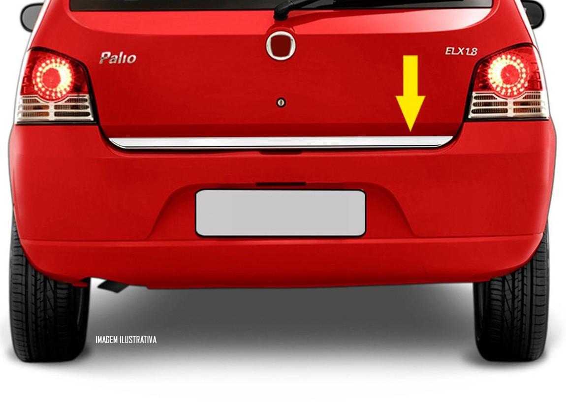 Friso Cromado Resinado Traseiro Porta Malas Fiat Palio 2008 2009 2010 2011