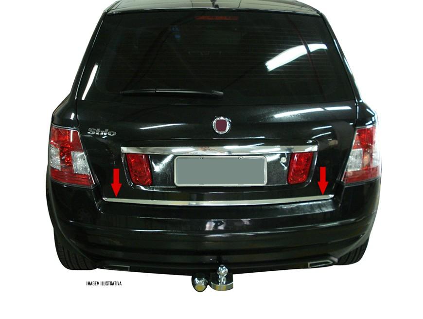 Friso Cromado Resinado Traseiro Porta Malas Fiat Stilo 2003 2004 2005 2006 2007 2008 2009 2010 2011