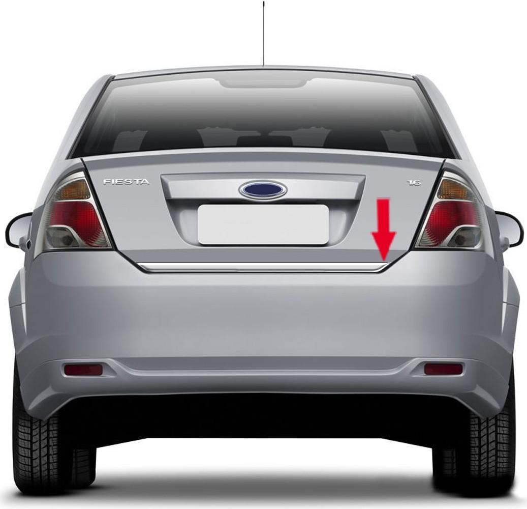 Friso Cromado Resinado Traseiro Porta Malas Ford Fiesta Sedan 2000 2001 2002 2003 2004 2005 2006 2007 2008 2009 2010