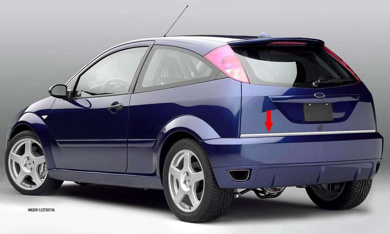 Friso Cromado Resinado Traseiro Porta Malas Ford Focus Hatch 2000 2001 2002 2003 2004 2005 2006 2007 2008