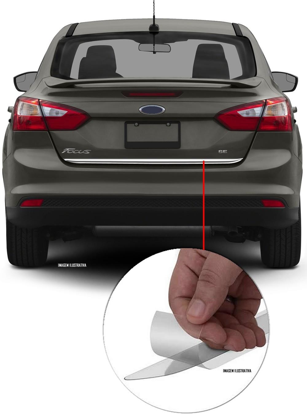 Friso Cromado Resinado Traseiro Porta Malas Ford Focus Sedan 2016 2017
