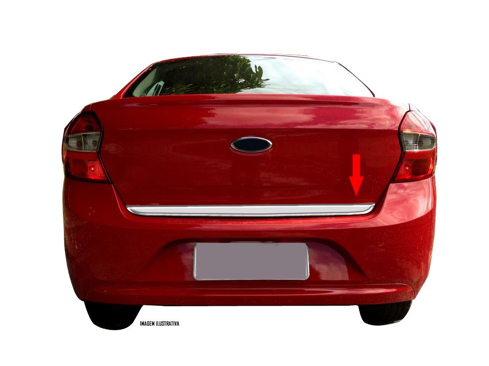 Friso Cromado Resinado Traseiro Porta Malas Ford Ka Sedan + 2015 2016 2017 2018