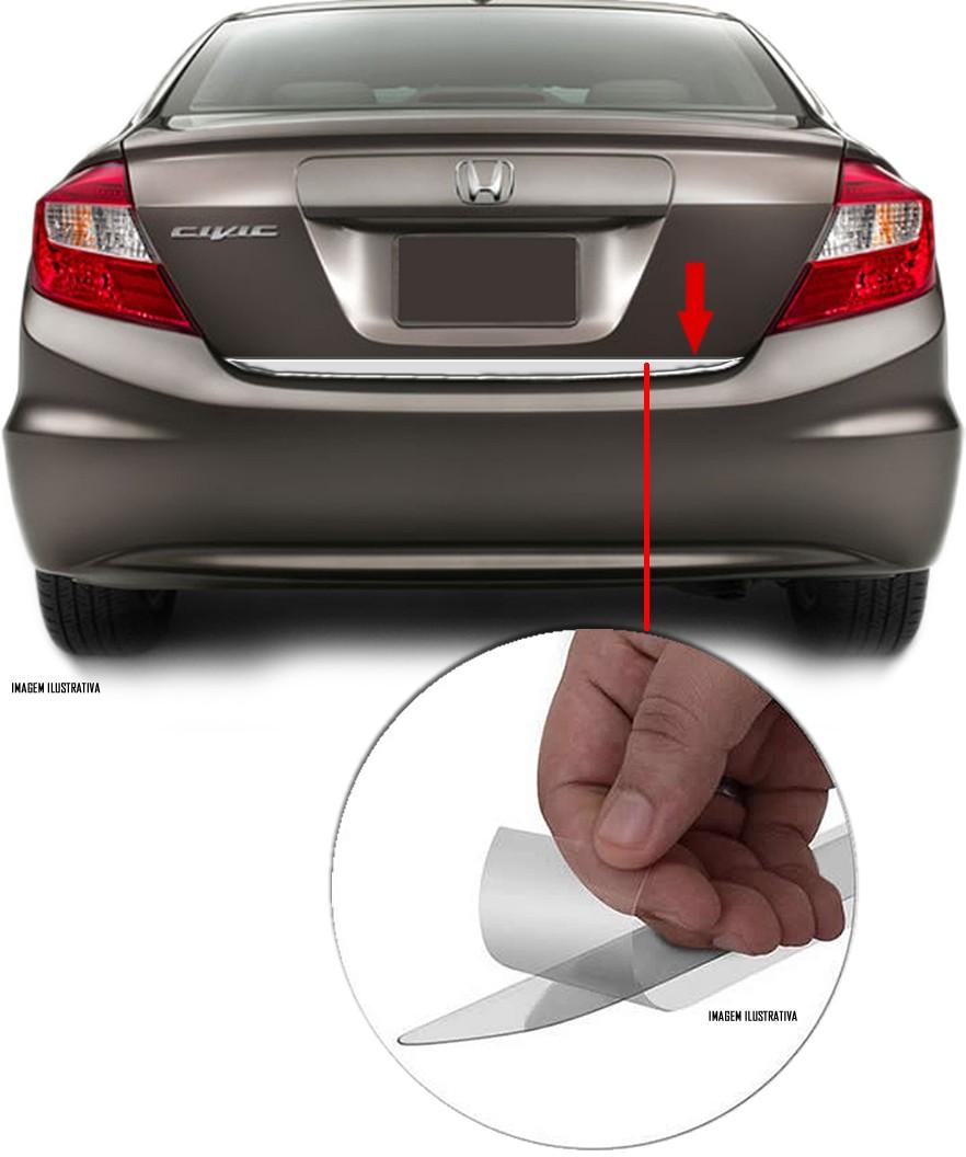 Friso Cromado Resinado Traseiro Porta Malas Honda New Civic 2012 2013 2014 2015 2016