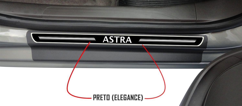 Jg Soleira Astra 4p Aço Escovado Preto Elegance 1999 2000 2001 2002 2003 2004 2005 2006 2007 2008 2009 2010 2011