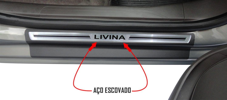Jg Soleira Livina 4p Preto Elegance Aço Escovado