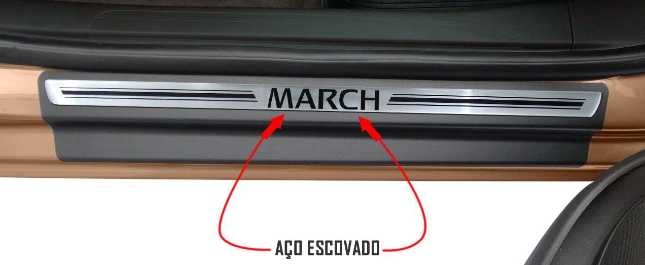 Jg Soleira March 4p Aço Escovado Preto Elegance