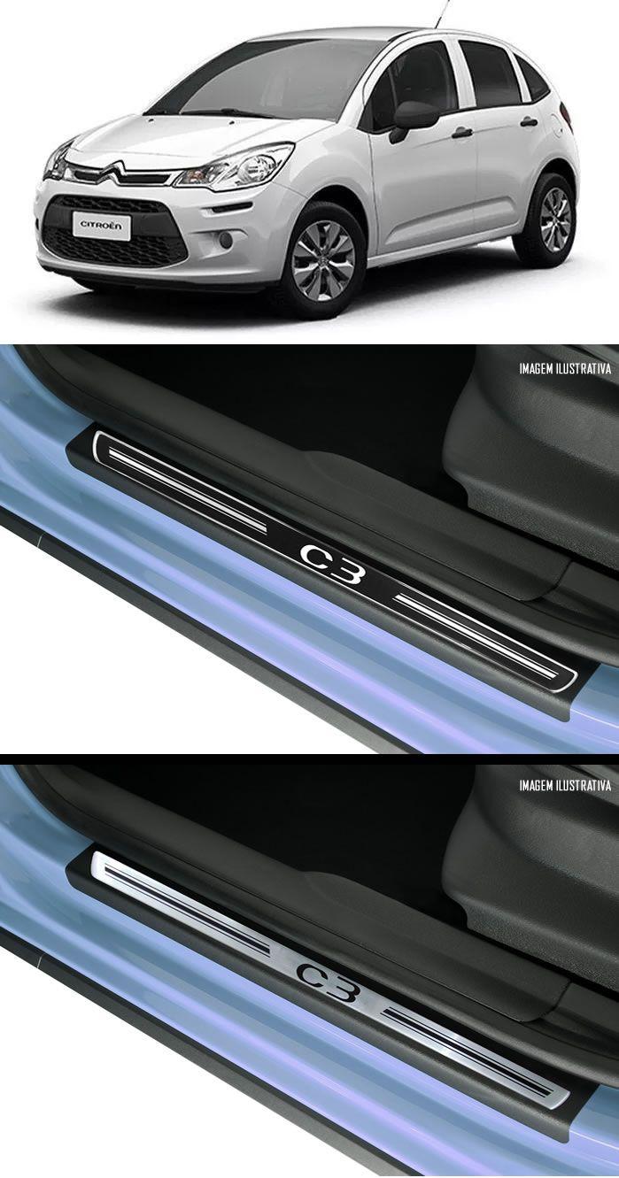 Jg Soleira Premium Elegance C3 2013 4p Aço Escovado Preto Elegance