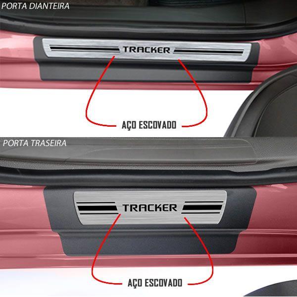 Jg Soleira Premium Elegance Tracker  4p Aço Escovado 2014