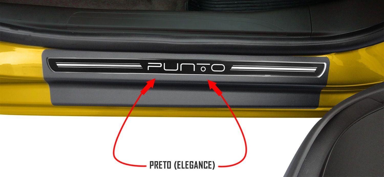 Jg Soleira Punto 2013 4p Preto Elegance Aço Escovado