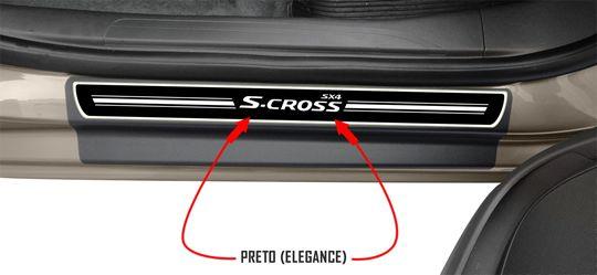 Jg Soleira Sx4 S-cross 4p Preto Elegance