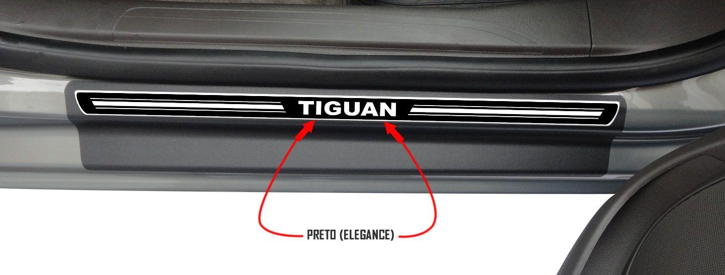Jg Soleira Tiguan 4p Aço Escovado Preto Elegance
