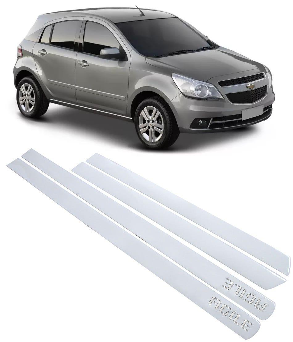 Jogo Adesivo Friso Lateral Chevrolet Agile 2009 2010 2011 2012 2013 2014 2015 - Transparente