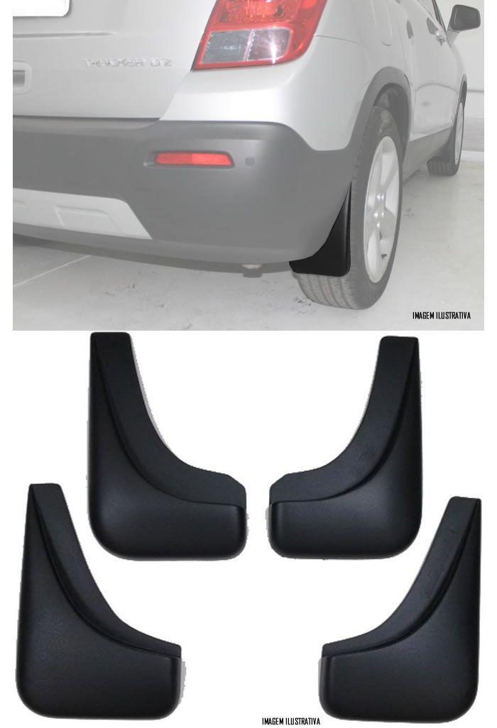 Jogo Apara Barro Protetor Lameira Flap Chevrolet Tracker 2013 2014 2015 2016 2017 2018