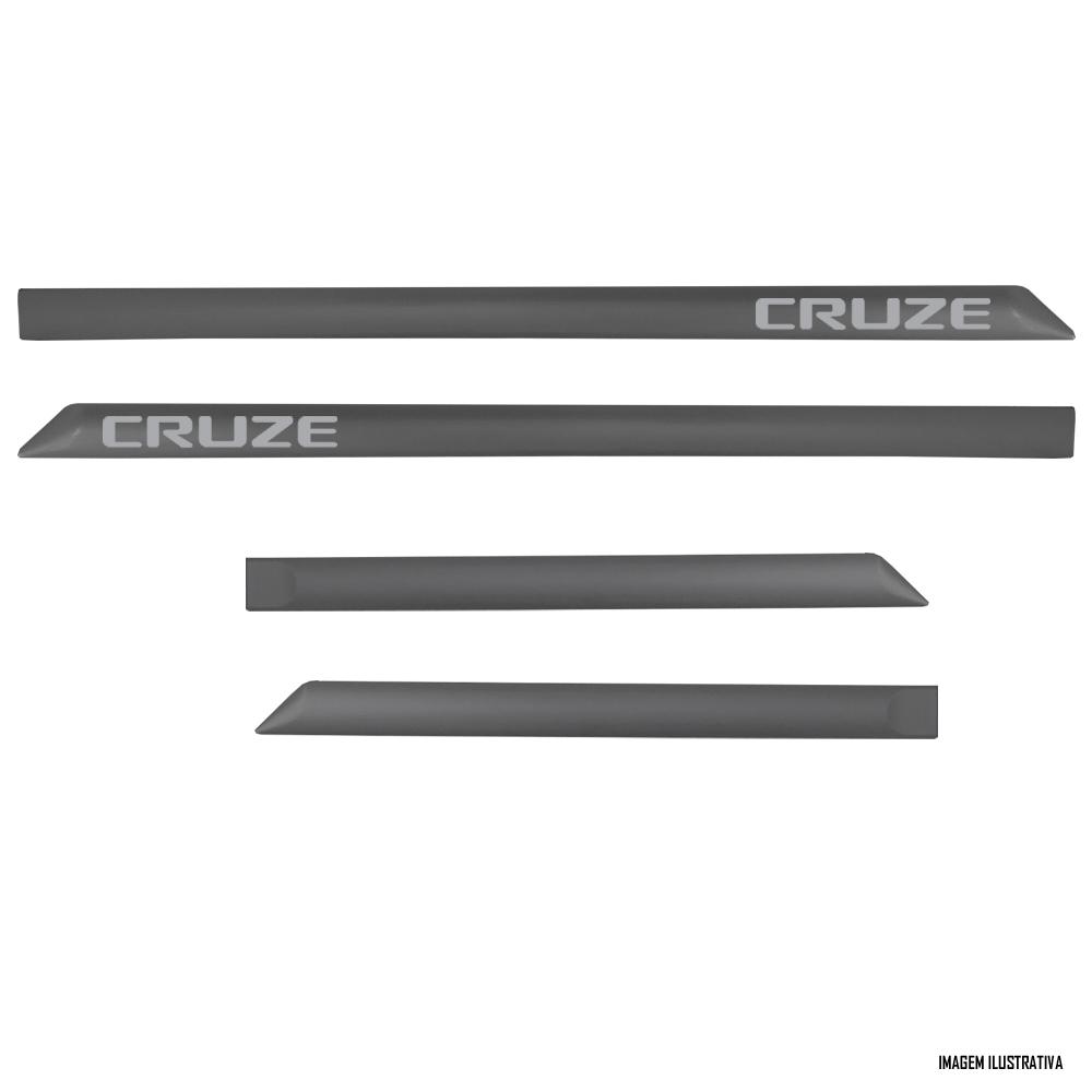 Jogo Friso Lateral Pintado Chevrolet Cruze 2017 2018 2019 2020 2021 - Cor Original