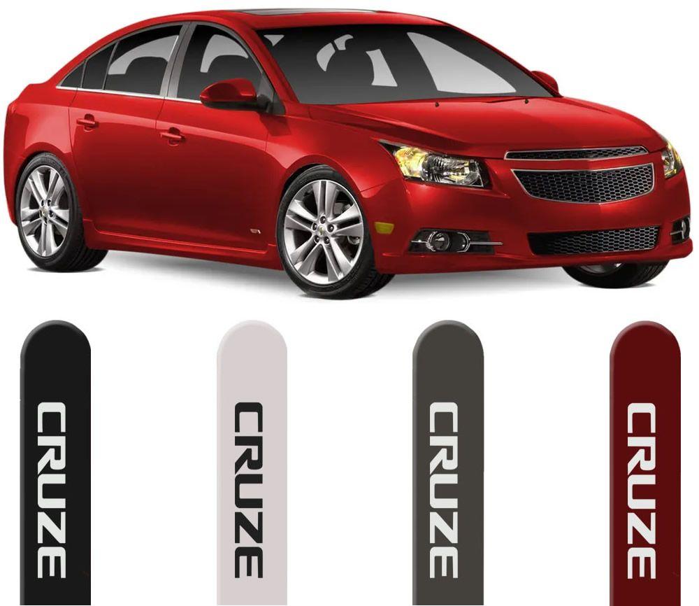 Jogo Friso Lateral Pintado Chevrolet Cruze Hatch e Sedan 2011 2012 2013 2014 2015 2016 - Cor Original