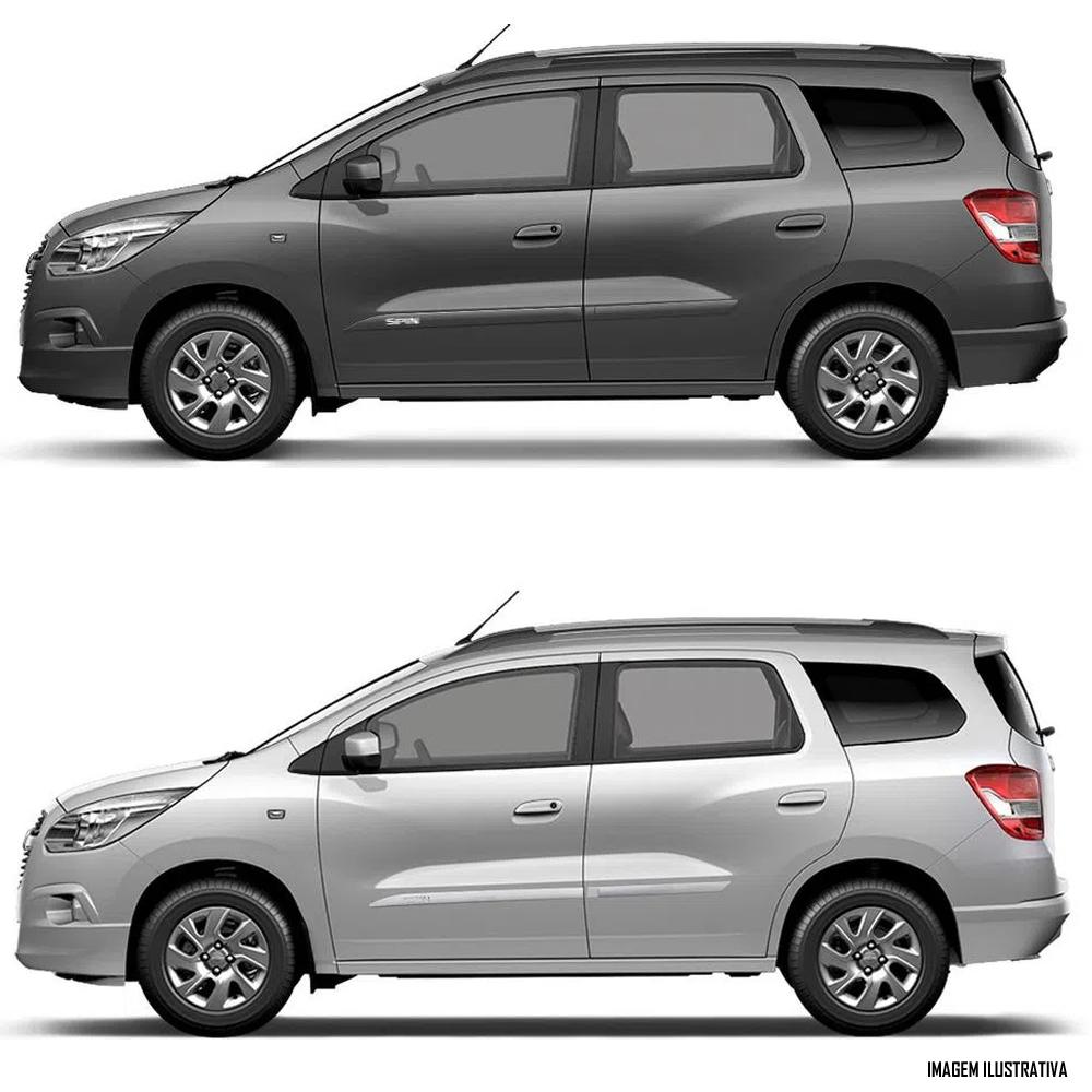 Jogo Friso Lateral Pintado Chevrolet Spin 2012 2013 2014 2015 2016 2017 2018 2019 2020 2021 - Cor Original