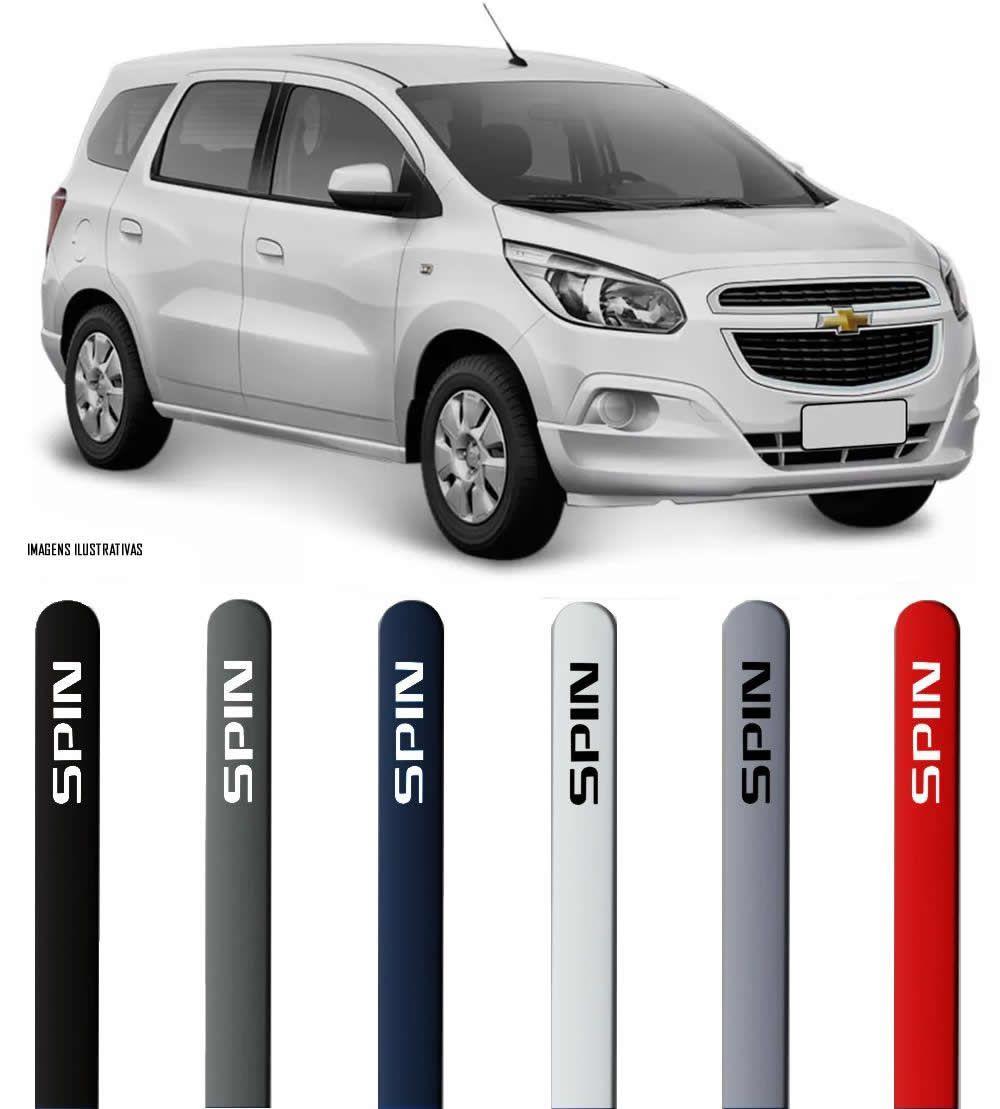 Jogo Friso Lateral Pintado Chevrolet Spin 2012 2013 2014 2015 2016 2017 2018 - Cor Original