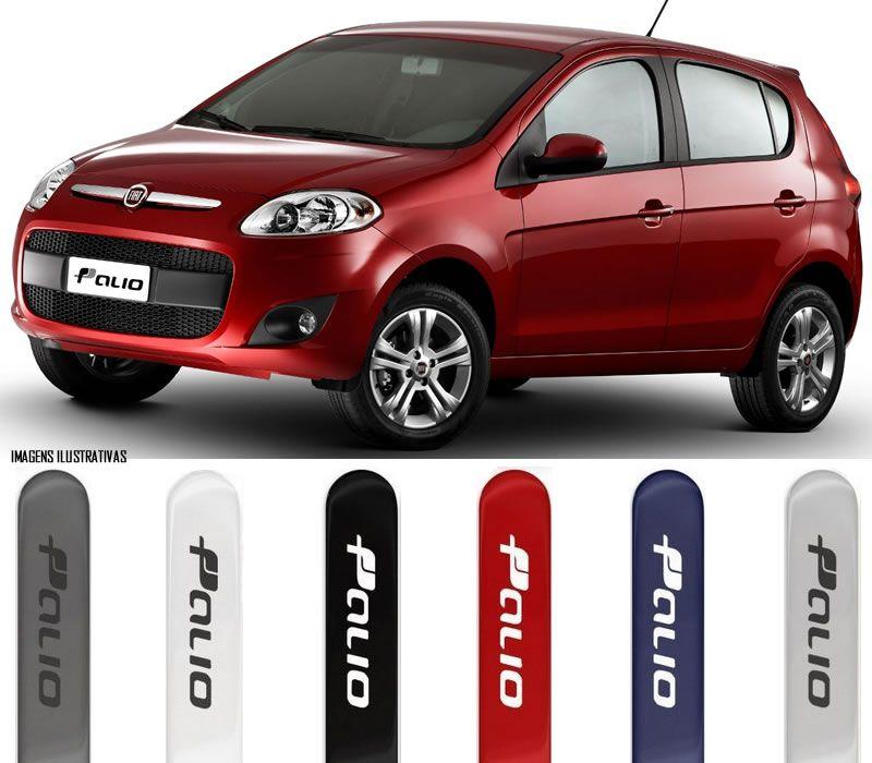 Jogo Friso Lateral Pintado Fiat Novo Palio 2013 2014 2015 2016 2017 2018 - Cor Original