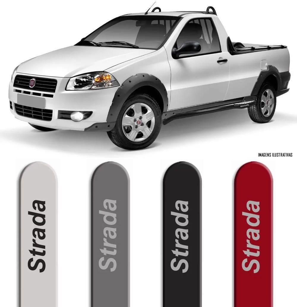 Jogo Friso Lateral Pintado Fiat Strada Cabine Simples - Cor Original