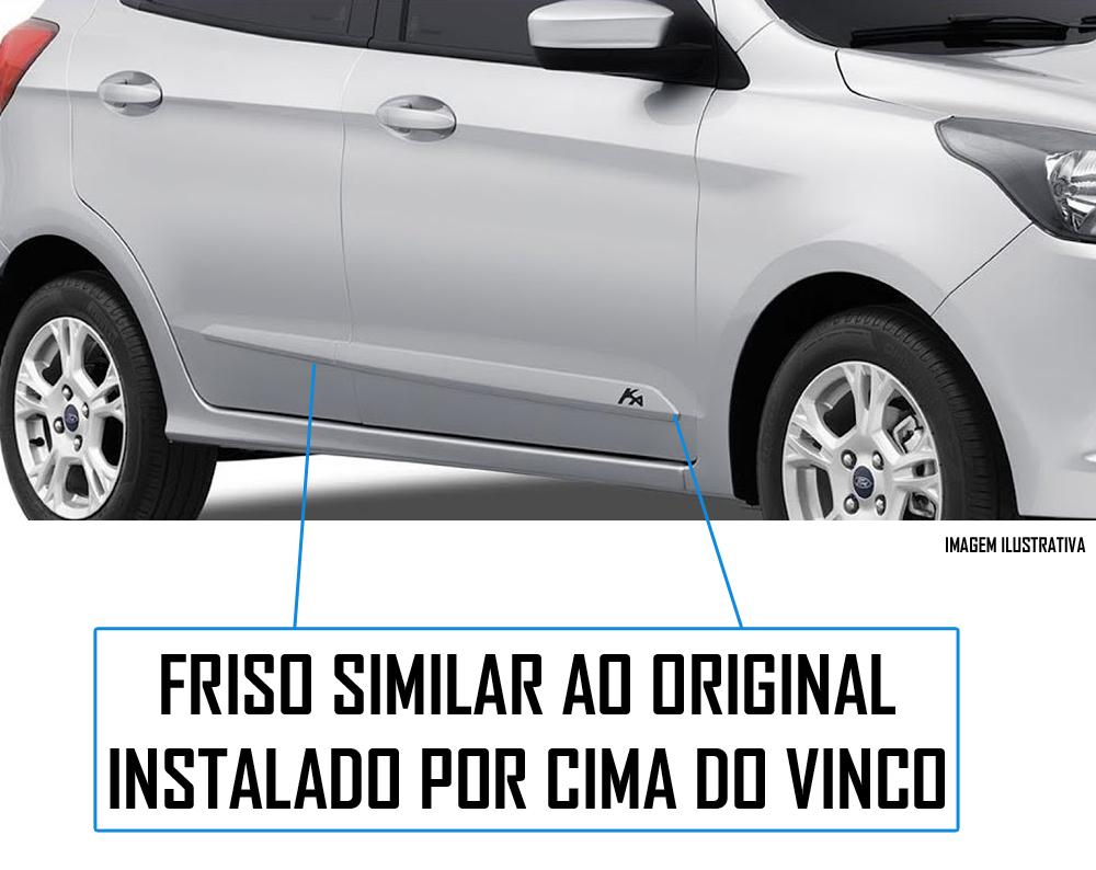 Jogo Friso Lateral Pintado Ford Ka 2014 2015 2016 2017 2018 2019 2020 - Cor Original