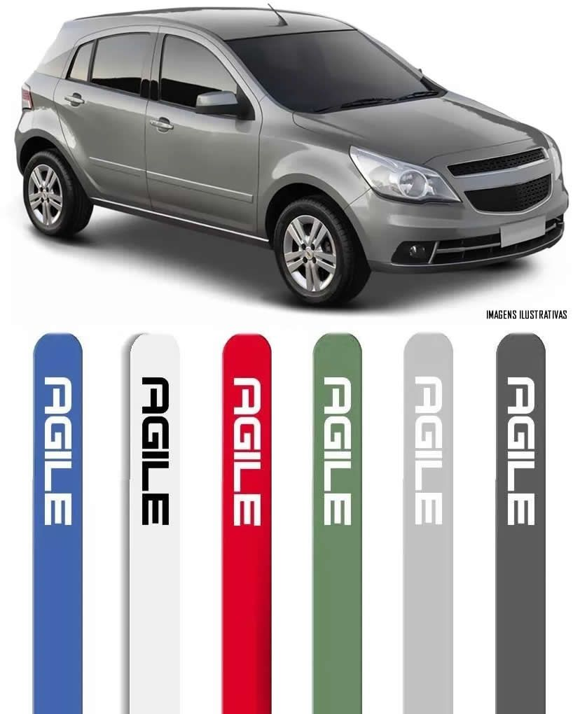 Jogo Friso Lateral Pintado Gm Chevrolet Agile 2010 2011 2012 2013 - Cor Original