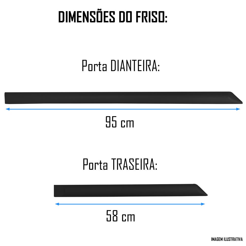 Jogo Friso Lateral Pintado Gm Onix 2012 2013 2014 2015 2016 2017 2018 2019 2020 2021 - Cor Original