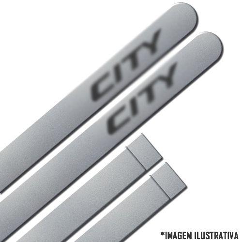 Jogo Friso Lateral Pintado Honda New City 2009 2010 2011 2012 2013 2014 2015 2016 2017 2018 2019   - Cor Original