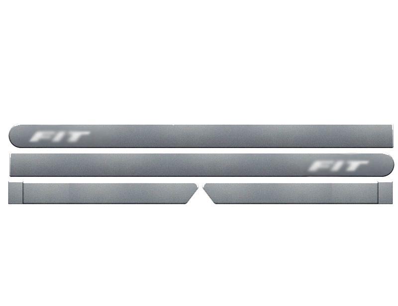 Jogo Friso Lateral Pintado Honda New Fit 2009 2010 2011 2012 2013 2014 2015 2016 2017 2018 2019 - Cor Original