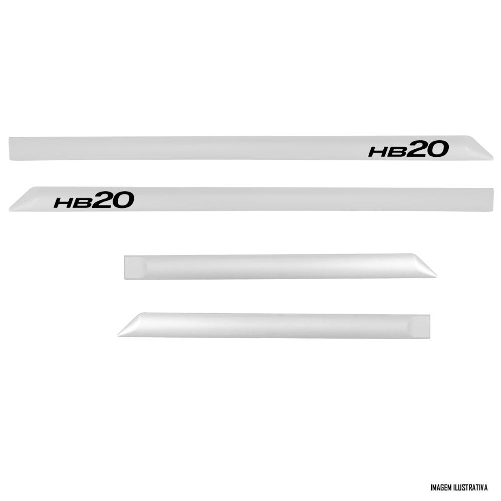 Jogo Friso Lateral Pintado Hyundai HB20 e HB20S 2012 2013 2014 2015 2016 2017 2018 2019 2020 - Cor Original
