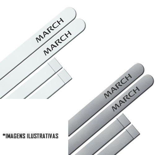 Jogo Friso Lateral Pintado Nissan March 2014 2015 2016 2018 2019 - Cor Original