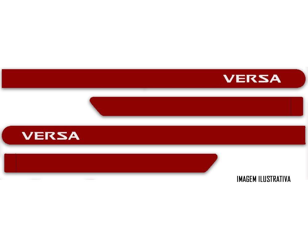 Jogo Friso Lateral Pintado Nissan Versa 2012 2013 2014 2015 2016 2017 2018 - Cor Original