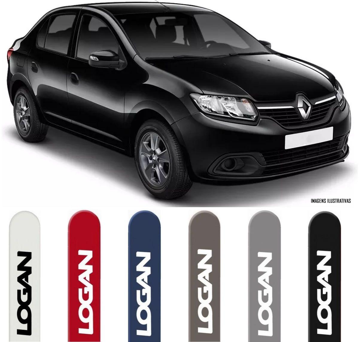 Jogo Friso Lateral Pintado Renault Logan 2013 2014 2015 2016 2017 2018 - Cor Original