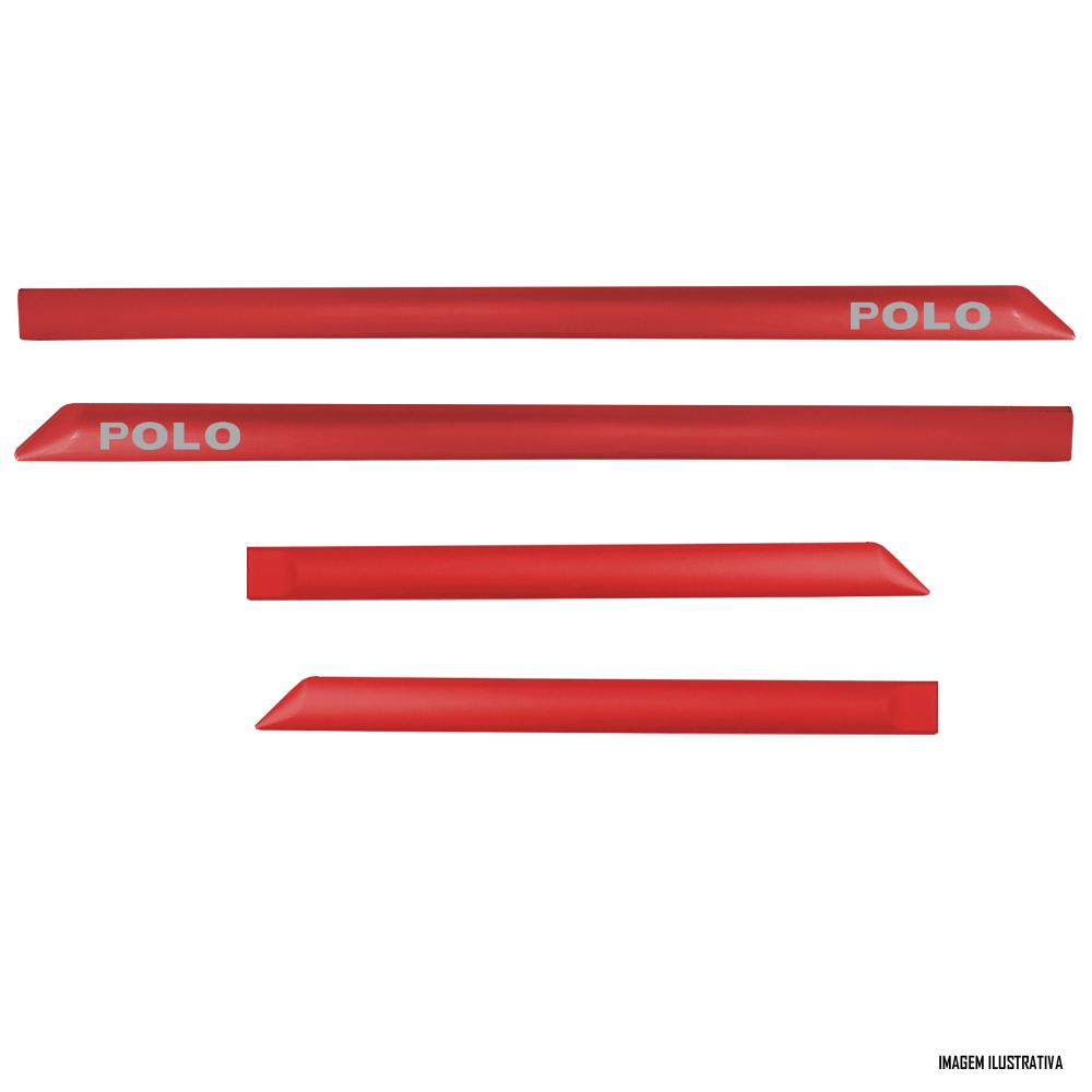Jogo Friso Lateral Pintado Vw Novo Polo - Cor Original