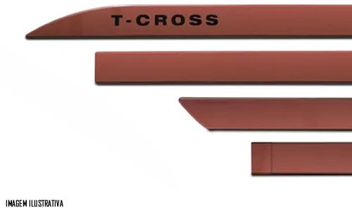 Jogo Friso Lateral Pintado Vw T-Cross - Cor Original