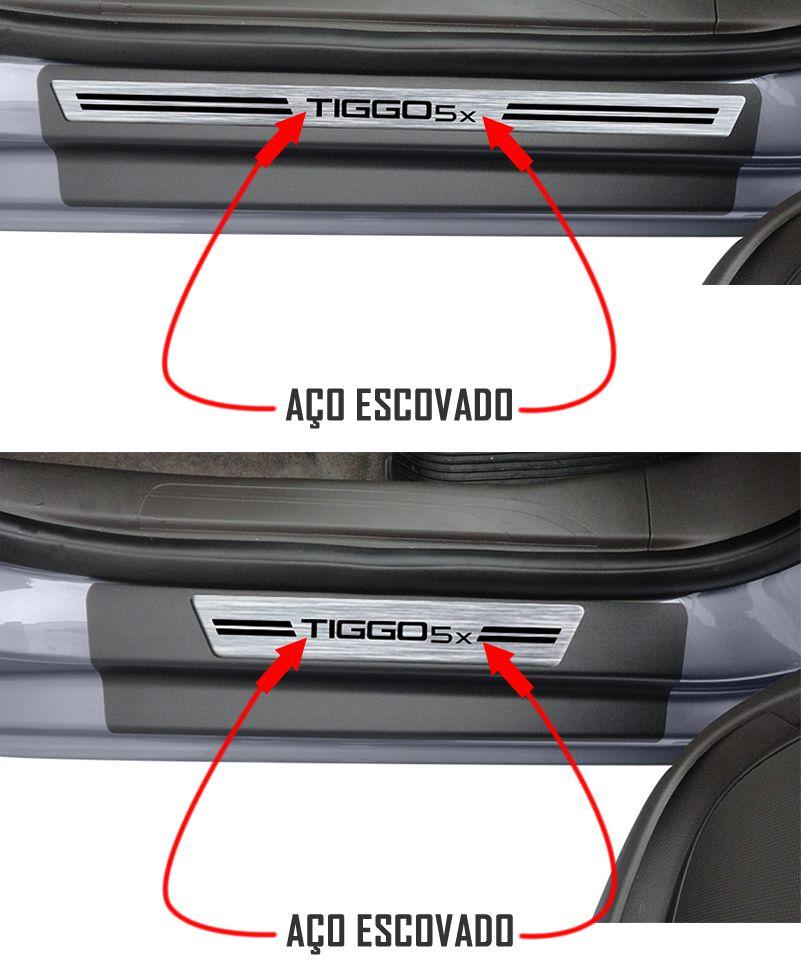 Jogo Soleira Premium Elegance Chery Tiggo X5 - 4 Portas ( Vinil + Resinada 8 Peças )