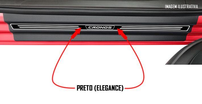 Jogo Soleira Premium Elegance Fiat Cronos- 4 Portas ( Vinil + Resinada 8 Peças )
