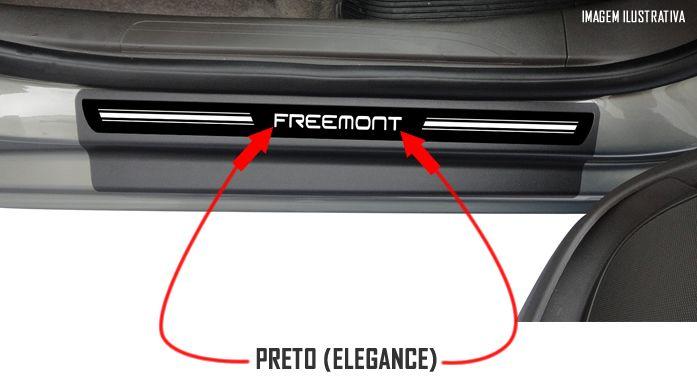 Jogo Soleira Premium Elegance Fiat Freemont 2012 2013 2014 2015 2016 2017 - 4 Portas ( Vinil + Resinada 8 Peças )