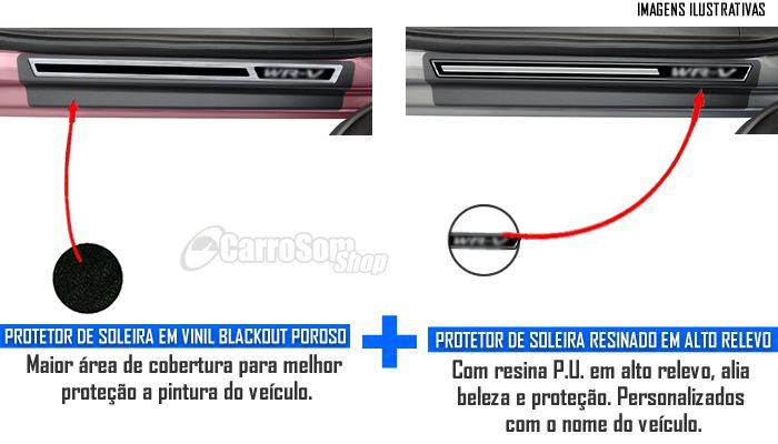 Jogo Soleira Premium Elegance Honda WR-V 2017 - 4 Portas ( Vinil + Resinada 8 Peças )
