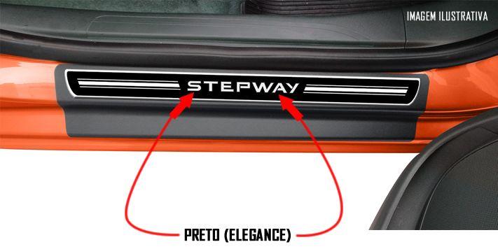 Jogo Soleira Premium Elegance Renault Stepway Todos os Anos - 4 Portas ( Vinil + Resinada 8 Peças )