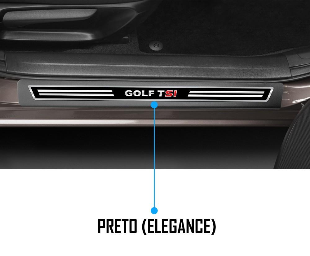 Jogo Soleira Premium Elegance Vw Golf TSI 2014 à 2020 - 4 Portas ( Vinil + Resinada 8 Peças )