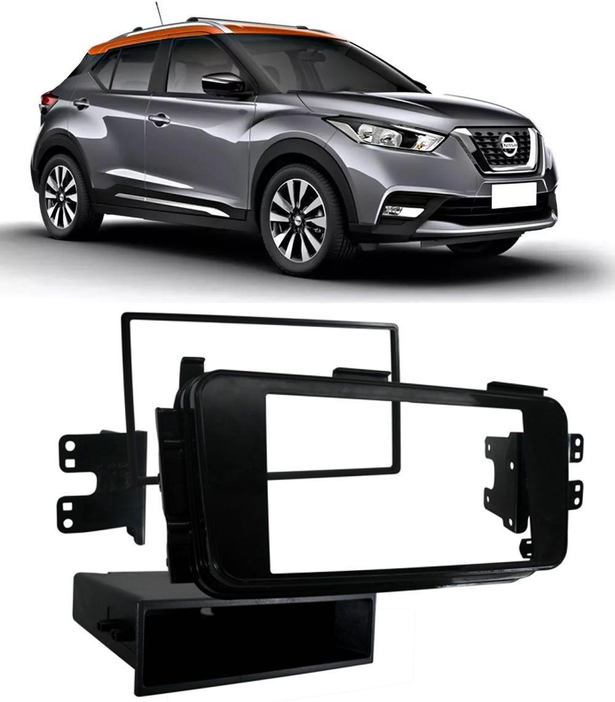 Kit Combo DVD Pioneer AVH-G218BT + Moldura de Painel 2 Din + Câmera de Ré Nissan Kicks Versão S