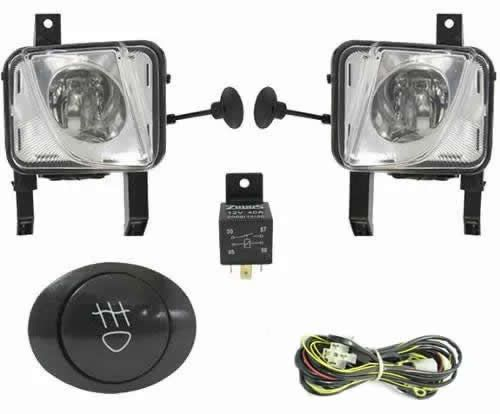 Kit Farol de Milha Neblina Chevrolet Meriva 2002 / 2003 / 2004 / 2005 / 2006 / 2007 / 2008 / 2009 / 2010 / 2011 / 2012 - Interruptor Alternativo