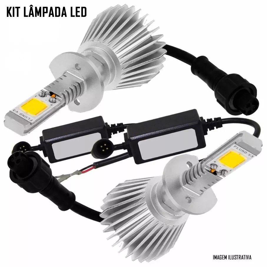 Kit Farol de Milha Neblina Chevrolet Spin 2012 2013 2014 2015 2016 2017 2018 2019 + Kit Lâmpada Super LED 6000K