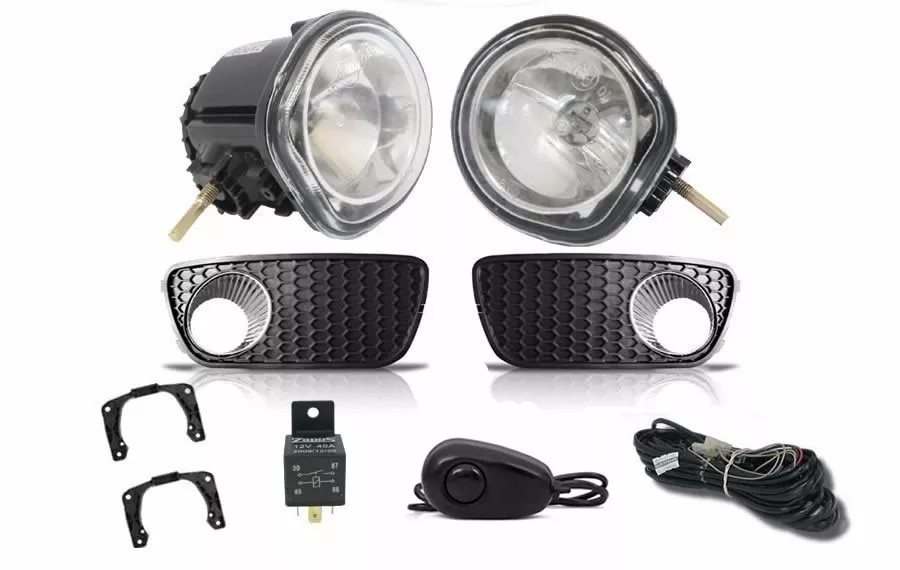 Kit Farol de Milha Neblina Fiat Palio e Siena Fire Celebration 2004 2005 2006 2007 2008 2009 2010 2011 + Kit Xenon 6000K / 8000K ou Kit Lâmpada Super LED 6000K