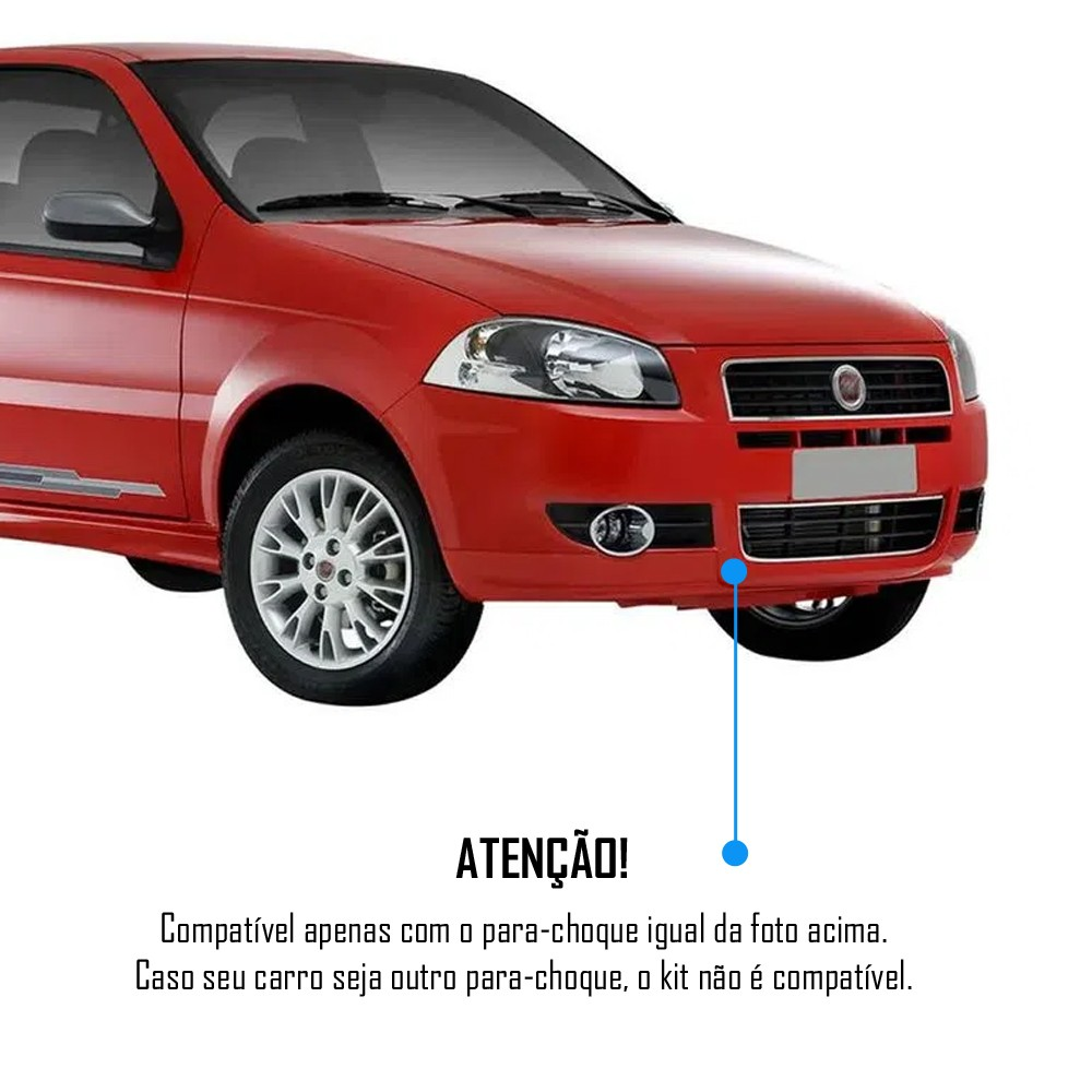 Kit Farol de Milha Neblina Fiat Palio EL 2009 2010 2011 + Kit Xenon 6000K / 8000K ou Kit Lâmpada Super LED 6000K