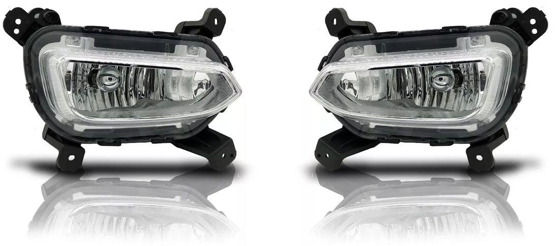 Kit Farol de Milha Neblina Hyundai Creta 2017 2018 - Interruptor Modelo Original